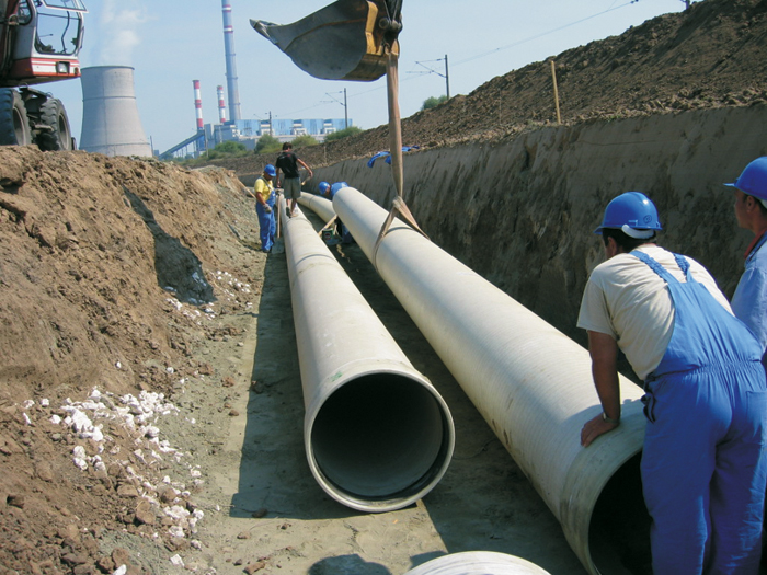 Gasstroymontaj jsc construction of water pipelines and for Water line pipe material